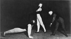 """Scene from """"Gesture Dance"""" with Schlemmer, Siedhoff and Kaminsky."""