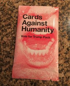Cards Against Humanity - Vote for Trump Pack - Expansion Set Sealed New 15 Cards #CardsAgainstHumanity