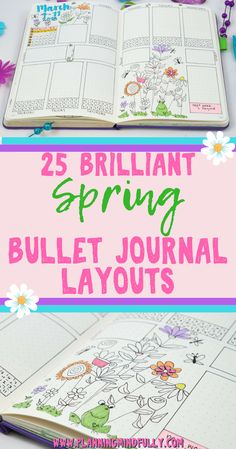 Ready to start Spring? Well, there are tons of ideas to set up for the new season in your bullet journal! These inspirational Spring bullet journal ideas spreads include weekly layouts, monthly spreads, trackers and collections, along with awesome supplies and doodles to make any page pretty. #bulletjournal #bulletjournalideas #bujo #planner #diy #spring