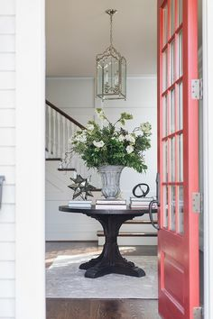 2019 New Year Home Tour - Home Bunch Interior Design Ideas Round Foyer Table, Entry Tables, Hall Furniture, Furniture Ideas, Retro Furniture, Furniture Removal, Furniture Stores, Entrance Foyer, Entry Hall
