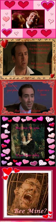 Nick Cage Valentine's Day cards = awesome