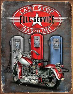 b12cd5de Michael Eastwood Bar Signs, Garage Signs, Garage Bar, Garage Office,  Motorcycle Art