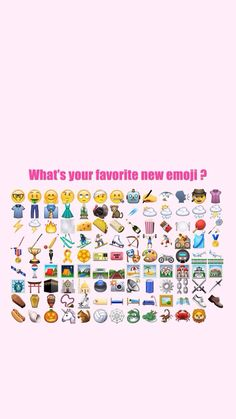 What's your favorite new emoji?