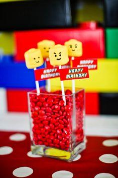 Cake Pops para fiesta de Lego