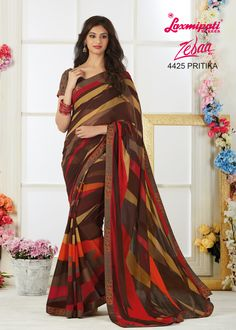 Look Awesome at an Any Occasion By Wearing The Saree. Make A Statement By Donning This Stylish Sarees. Rich in Material and of Pure Ethnic Essence, This Saree Will Be a Collector's Item in Your Fabulous Collection. Get It Now!  #Catalogue #Zeeba #Price - 1742.00 Visit for more #designs @ www.laxmipati.com/catalogue/zebaa #Bridal #ReadyToWear #Wedding #Apparel #Art #Autumn #Black #Border #MakeInIndia #CasualSarees #Clothing #ColoursOfIndia #Couture #Designer #Designersarees #Dress… Laxmipati Sarees, Saris, Stylish Sarees, Saree Shopping, Printed Sarees, Saree Styles, Beautiful Saree, Morning Quotes, Party Wear