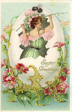 Antique Easter Paintings | Vintage Easter Postcard | Flickr - Photo Sharing!