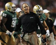 Baylor University head coach Art Briles reacts against the University of Oklahoma in the first half of their NCAA Big 12 football game at Floyd Casey Stadium in Waco, Texas, United States on November 19, 2011.   REUTERS/Mike Stone/File Photo
