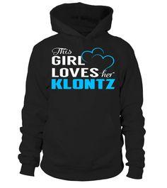 This Girl Love Her KLONTZ Last Name T-Shirt #Klontz