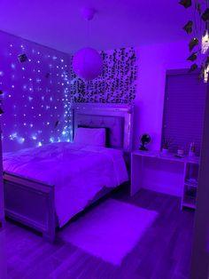 Neon Bedroom, Room Design Bedroom, Room Ideas Bedroom, Bedroom Inspo, Teen Room Decor, Cute Bedroom Decor, Cozy Room, Chill Room, Dream Rooms