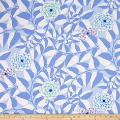 Kaffe Fassett Collective Vine Blue from @fabricdotcom  Designed by Kaffe Fassett for Westminster/Rowan Fabrics, this cotton print is perfect for quilting, apparel and home decor accents. Colors include blue, periwinkle, mint, aqua and purple.