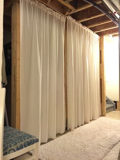 Unfinished basement walls (unfinished basement ideas) unfinished basement on a budget unfinished basement playroom unfinished basement makeover unfinished basement diy unfinished basement ceiling Basement Remodel Diy, Basement Office, Basement Makeover, Basement Renovations, Basement Designs, Cozy Basement, Basement Shelving, Open Basement, Home Decor Ideas