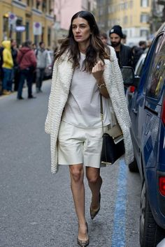 Leila Yavari - Street style at Milan fashion week autumn/winter '14/'15