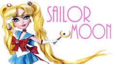 Princess Serenity Dress / Princess Serenity gown How to make Princess Serenity Dress for Dolls ( diy ) Tutorial inspired by Sailor Moon Crystal free pattern . Diy Ooak Doll, Ooak Dolls, Barbie Dolls, Handmade Dolls, Sailor Moon, Princesa Serena, Biscuit, Princess Serenity, Fairy Clothes