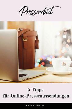 5 Tipps für Online-Presseaussendungen #pr #pressearbeit #presseaussendung Influencer Marketing, Public Relations, Content Marketing, Storytelling, Business, Handy Tips, Blogging, Tips And Tricks, Things To Do