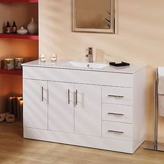 A Vanity Unit Complete With 3 Drawers And 2 Soft Closing Cupboards The Comes Pre Embled Has White Gloss Finish