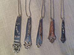 Smykker for kule damer - redesign av gammelt bestikk. Lagd One of a Kind av byjaneM. Spoon Jewelry. Facebook.com/ByJaneM/ www.epla.no/byjanem/