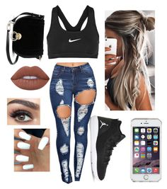 """"""""""" by xxkemaraxx on Polyvore featuring NIKE, Speck, Lime Crime and Diane Von Furstenberg"""