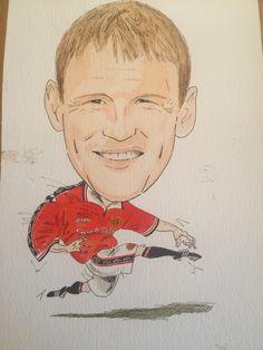 Teddy sherringham drawn by Mark Tunnah