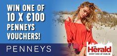 Win one of 10 X €100 Penneys vouchers - http://www.competitions.ie/competition/win-one-10-x-e100-penneys-vouchers/
