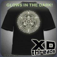 WANT!   fullmetal alchemist glow in the dark tee!