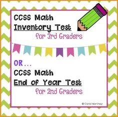 Get your Back to School organized with this 3rd Grade Math Inventory Test. The test is aligned to the CCSS end of the year 2nd grade math standards, so you'll be able to see how well your students maintained their skills over summer.