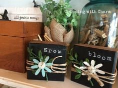 Chipping with Charm:Spring Repurposed Blocks, www. Best Picture For primitive spring crafts For Your Taste You are looking for something, and it is going to tell you exactly what you a Scrap Wood Crafts, 2x4 Crafts, Wood Block Crafts, Wooden Crafts, Crafts To Sell, Crafts For Kids, Wood Blocks, Plate Crafts, Chalk Crafts