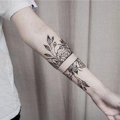 Negative space tattoo
