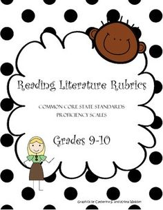 These proficiency scale rubrics comb apart each Common Core State Standard for reading literature in grades 9-10 by delineating various cognitive demands. These proficiency scales detail a range of cognitive achievement by students, all in the following domains of reading literature:*Key Ideas and Details*Craft and Structure*Integration of Knowledge and Ideas*Range of Reading and Level of Text ComplexityThis set also includes one formative assessment matrix for each CCSS.Literacy.RL.9-10…