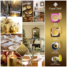 #gold #christmasnails #xmasnails #nailart #naildesign #goldnails #crystalnails