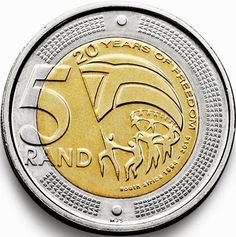 South Africa 5 rand 2014 - 20 years of Freedom