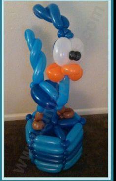 Roadrunner balloon decoration.