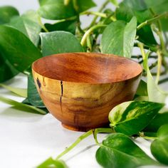Simplicity Hand Turned Mesquite Wood Bowl