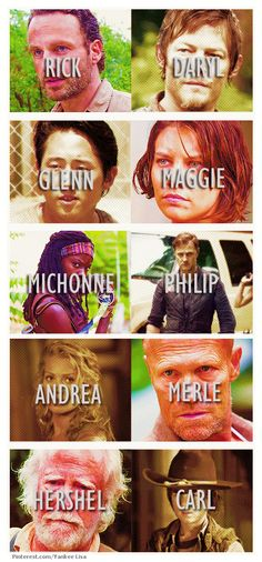 guy favorites:Hershel, Glenn, Daryl, plus Carl  girl favorites:Michonne