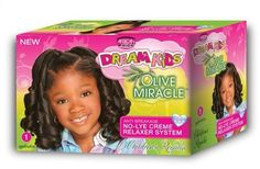 African Pride Dream Kids Olive Miracle No-Lye Creme Relaxer System 1 Application Regular