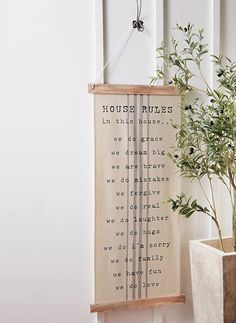 House Rules Hanging Wall Art Wall Art Placement, House Rules, Kitchen Doors, Antique Farmhouse, Great Housewarming Gifts, Hanging Wall Art, Accent Pieces, House Warming, Gallery Wall