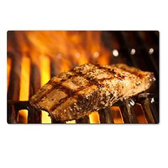 MSD Natural Rubber Large Table IMAGE ID: 14940987 salmon fillet on the grill with flames >>> Continue to the product at the image link.