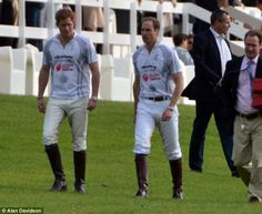5/12/12 -Princes William and Harry enjoy the glorious weather by horsing around at a star-studded charity polo match