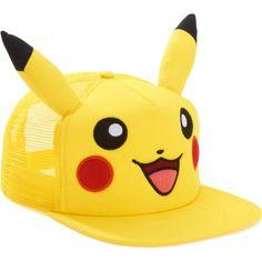 f54032206f6 Pokemon Pikachu - Pikachu Snapback Trucker Hat with Embroidered Pikachu  Face