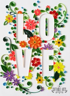 A quick project:  Love typography with paperquilling.