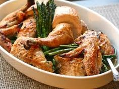 Roasted Chicken with Pesto Gemelli Pasta and Roasted Asparagus