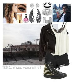 """""""Outfit #1"""" by lizzie-tejeda ❤ liked on Polyvore featuring New Look, Yves Saint Laurent, Converse, Effy Jewelry, Steve Madden and Bling Jewelry"""