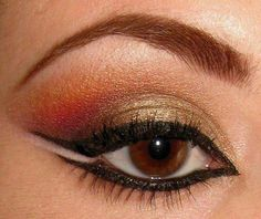 very interesting way of applying eyeliner. it really opens up the eye
