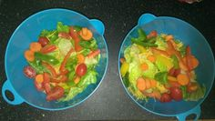 Fresh Salad with peppers, tomato, romaine, carrotts, shredded cheddar