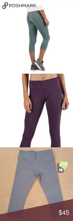 3fb563745ba507 Glyder crop leggings NWT Pretty green color The purple picture is only to  show how they
