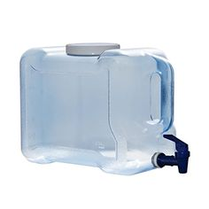 For Your Water 2 gallon - 7.5 Liter Long Refrigerator Bottle Drinking Water Dispenser w/ Faucet BPA Free