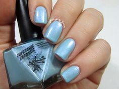 SuperChic Lacquer :: Coming Unblued Nail Polish - Blue Iridescent Chrome Shimmer - Gaslighted Collection - Full Size 15 ml Bottle