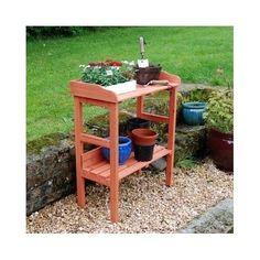 Wooden Potting Table Garden Greenhouse Patio Porch Bench Plants Pots Benches Pot