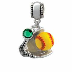 Pandora Softball Charm | novelty more charms image unavailable image not available for color ...