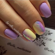 Broken glass nails, Color transition nails, Everyday nails, Ideas of gradient…