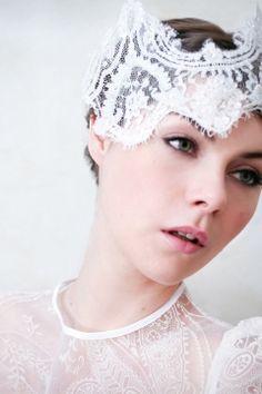 suzie o'rourke - wired lace, Gaze Bridal Mask